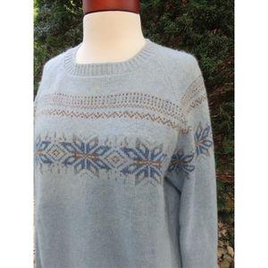 Vintage Fair Isle Unisex Oversized Wool Sweater